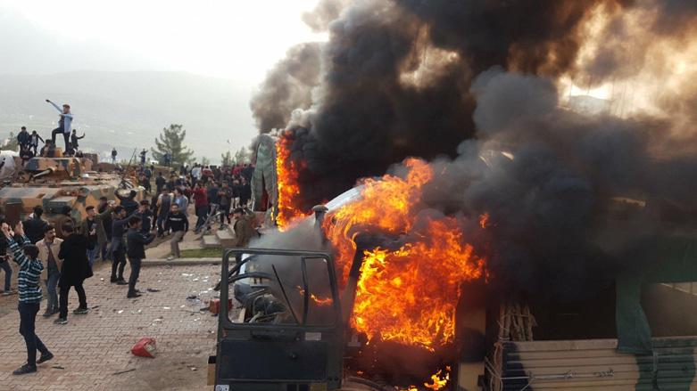 Attempted storming of Turkish base in Kurdistan Region of