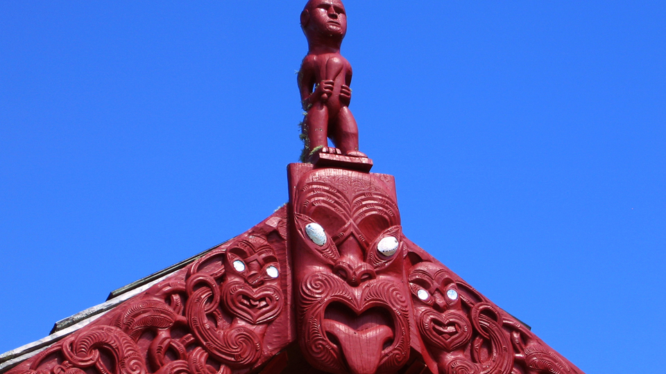 Maori art at Waitangi, New Zealand.