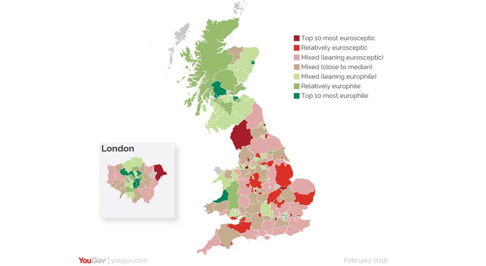 Scotland England Border Clearly Drawn On Euroscepticism Map Nationalia