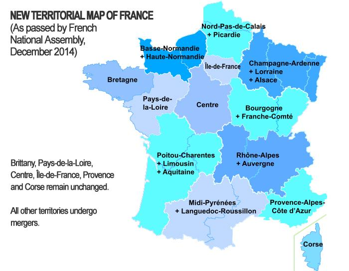New Map Of France.Bretons Alsatians To Keep Opposition To New Map Of France