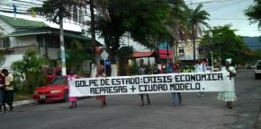 Garifunas protest the creation of ZEDE.