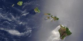 Hawaii satellite image.