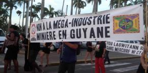 Protest in Guyana, this week.