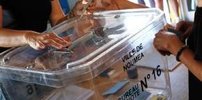 A ballot box in New Caledonia's capital.
