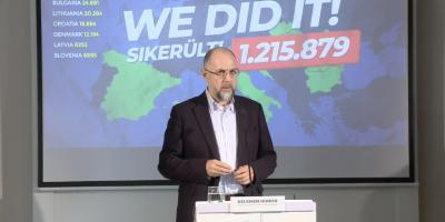 UDMR president Hunor Kelemen announces iniciative was successful.