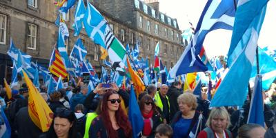 AUOB demonstration in Edinburgh.