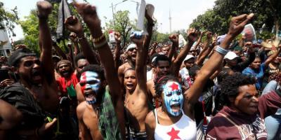 Papuan pro-independence demonstration.