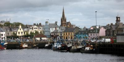Stornoway, main town in the Western Isles.